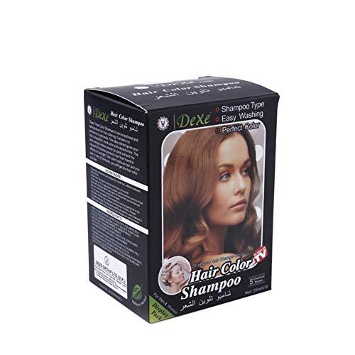 Instant Haarfärbemittel Shampoo Kastanienbraun Haarfärbemittel, 25ML x 10 Beutel, Letzte 4 Wochen