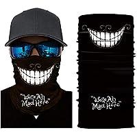 Scelet Al Aire Libre de equitación mascarilla sin Fisuras Media máscara Multifuncional Sombrero Cuello Camuflaje Cara Toalla