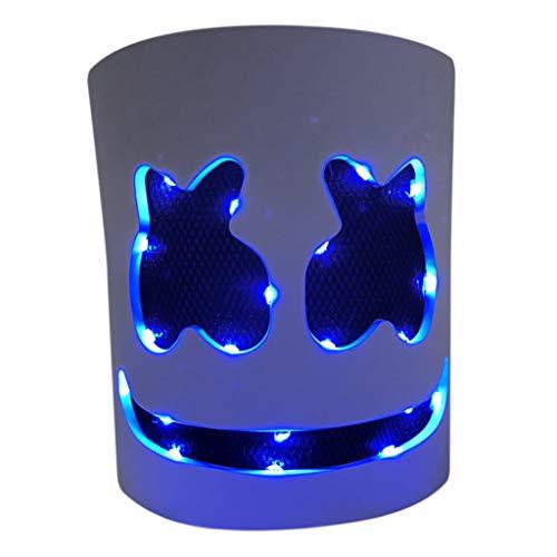 2 Am Face Kostüm Besten - Besttse LED-Elektronische DJ-Maske, EVA, atmungsaktiv, beleuchteter Helm, Halloween-Party-Requisiten, Cosplay, Erwachsene, Kinder F
