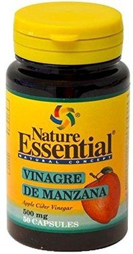 Nature Essential - Vinagre de manzana, 500mg, 50 cápsulas