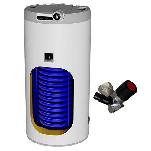 125 Liter L indirekt beheizter Warmwasserspeicher mit 1 Wärmetauscher - Anschlüsse oben, Boiler Standspeicher