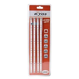 LED Strip Light Kit Neutralweiss 4 LED-Stripes à 30 cm mit jeweils 12 LEDs