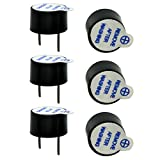 WOSKY Super Loud 5V Active Alarm Buzzer Beeper Tracker 9X5.5mm for FPV Racing Drone RC Quadcopter PDB Flight Control (Pack of 6 Pcs)