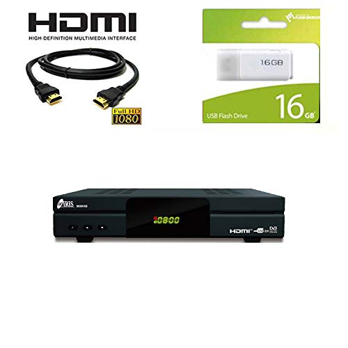 Kit Receptor SATELITE IRIS 9800 HD con Cable HDMI + USB 16GB