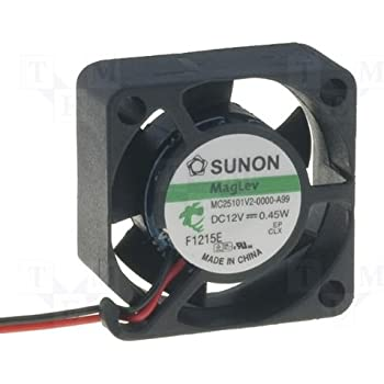 L/üfter 12V 0,45W 25x25x10mm 5m/³//h 16dBA ; Sunon MC25101V2-A99