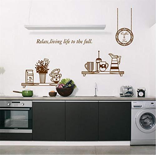 Hlonl Home Dekorative Restaurant Küche Hintergrundbild Kreative Kühlschrank Aufkleber Geschirr Aufkleber 45 * 60 Cm