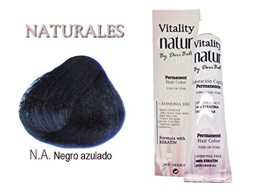 Tinte Vitality Natur Sin Amoniaco + Keratina 60ml. Tono Negro Azulado