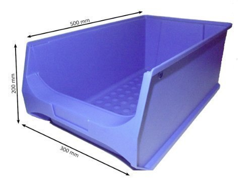 Sichtlagerbox (blau) Gr. 5, Made in Germany