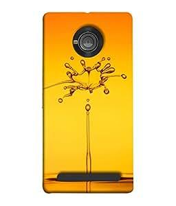 PrintVisa Designer Back Case Cover for YU Yunique (Transparent Concentric Horizontal Isolated Reflection Freshness Beautiful Splashing)
