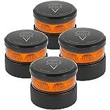 Hero Driver LED Luz Emergencia V16 Batería Litio Recargable Baliza Señalización DGT Homologada - 4 Unidades