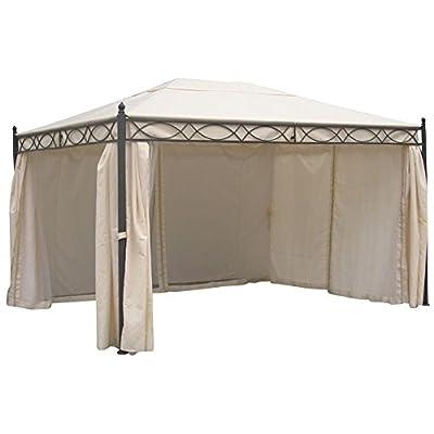 Pavillon Rivoli 300x400cm ecru mit Moskitonetz Stahlgestell von Sonstige bei Gartenmöbel von Du und Dein Garten