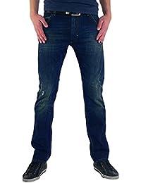 Diesel - Jeans - Jambe droite - Homme Bleu Bleu