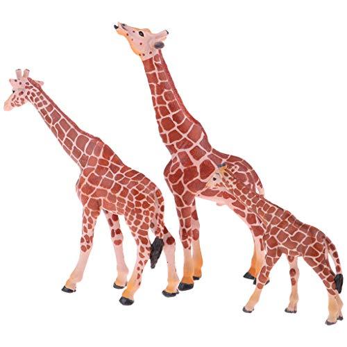 chiwanji Miniatur Giraffe Und Babys Statue Fairy Garden Decor