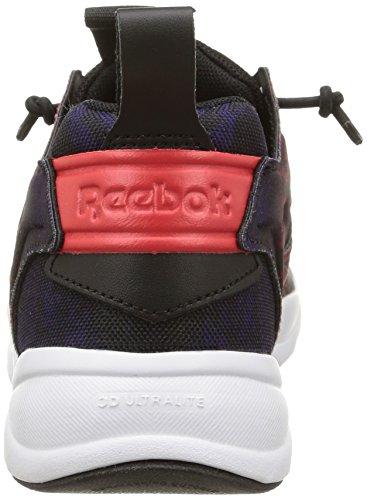 Reebok Furylite SR, Baskets Basses Homme multicolore (Blk/Poppy Red/Violet)