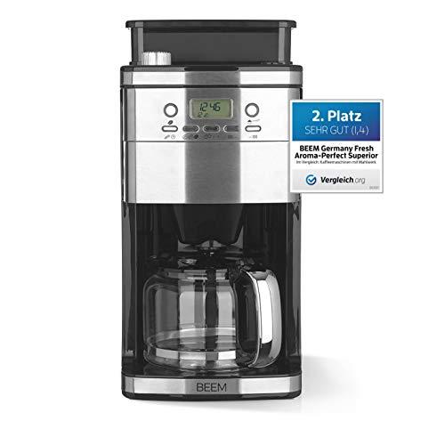 Beem Filterkaffeemaschine Fresh-Aroma-Perfect Superior (Modelljahr 2019) 1050 W, Permanentfilter, mit Mahlwerk, 24 h Timer, Edelstahl (Mit intelligenter Wasserzufuhr), 18/10_steel