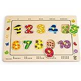 Hape E1500 - Puzzle de encajar, diseño de números