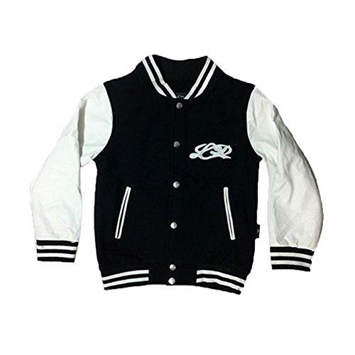 MB-Müller Kinder College Jacke Jungen & Mädchen Old School Jacke Hoodie Kapuzenpullover Sweatjacke Baseball Jacket USA Pullover Sweatshirt NYC University 2-8 Jahre (4 Jahre, 16010-001) -