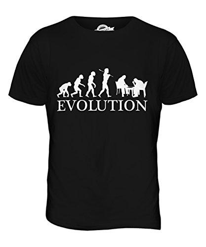 CandyMix Backgammon Evolution Des Menschen Herren T Shirt Schwarz