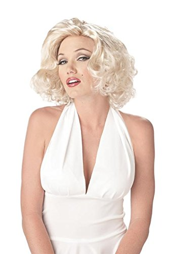Pin-Up Damen-Perücke blond (Perücke Pin Blonde Up)
