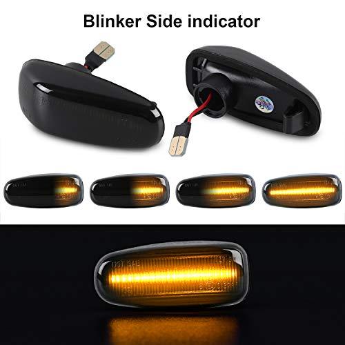 Dynamische Seitenblinker OZ-LAMPE Blinker Fließender Seitenblinker Rauch Für Ben-z E-Klasse W210 C-Klasse W202 CLK-Klasse W208 SLK-Klasse R170 Vito W638