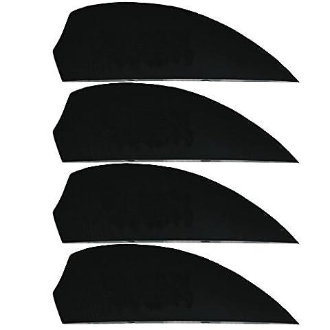 4x G10 fins Black, Kiteboardfinnen, Buldog, wakeboard fins, G10, fin, fins, M6, surfboard fins, Black
