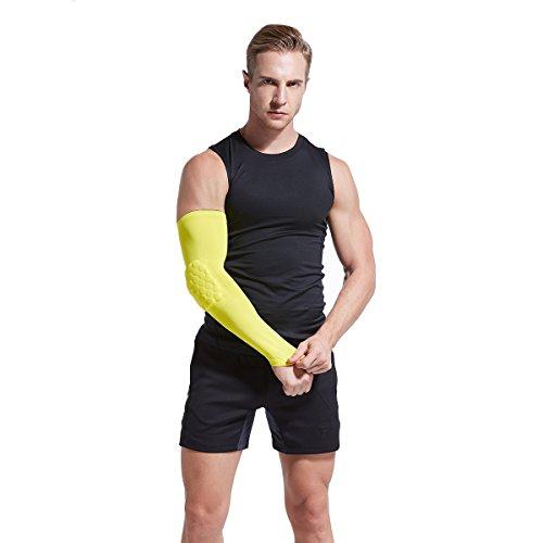 Veni Masee Armmanschette mit Ellenbogenpolster für Sport zum Schutz / Unterstützung, 1 Stück Gelb - gelb