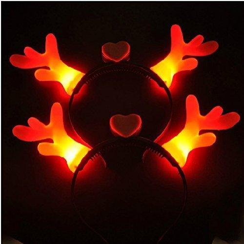 Glow Rentier Geweih Haarband Nachtlicht bis Spielzeug Glowing in the Dark Kids Erwachsene Gastgeschenke (Taylor-swift-kostüm)