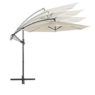 Sekey® Ampelschirm 300 cm Sonnenschirm Gartenschirm Kurbelschirm mit Kurbelvorrichtung Sonnenschutz UV50+ von Sekey auf Gartenmöbel von Du und Dein Garten