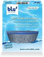 blu NMC Refill Cartridges Set, Black, RGV3-NMC-ISF-WM/RS-V3.0, 3 Pcs