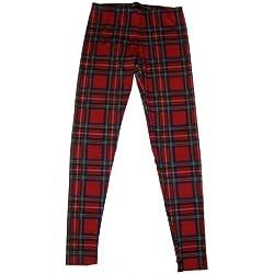 Rojo de cuadros escoceses para mujer Rojo rosso xx-large