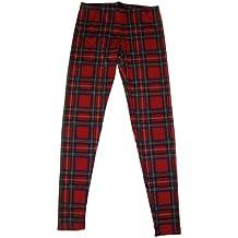 Rojo de cuadros escoceses para mujer