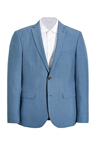 next Homme Coupe Slim Veste De Costume Chinée Bleu 1
