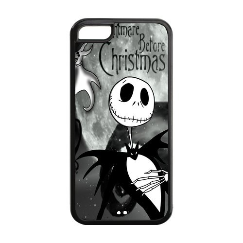 Cutomize iPhone 5 C Cover, resistente custodia morbida di protezione per iPhone 5 C, iPhone 5 C Cases, The Nightmare Before Christmas
