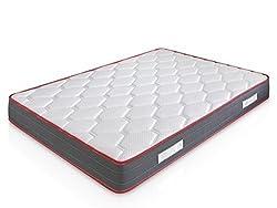 Matelas Ergo-Therapy 140X190 à mémoire de forme | 18 cm Épaisseur | 2 cm de mousse à mémoire de forme de 65kg/m3 | Foam AirSistem | Extrêmement durable | Certification ISO 9001®