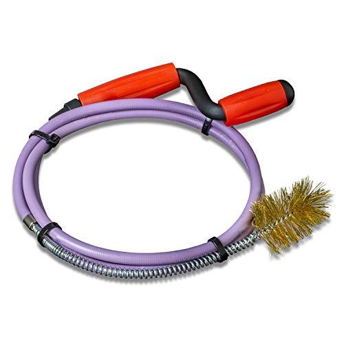 Nirox Rohrreinigungsspirale mit fester Draht-Bürste, 8mm x 1,4m - Rohrspirale mit Gummimantel - Ideal für Abfluss & Siphon
