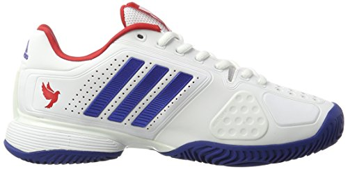 adidas Novak Pro, Scarpe da Tennis Uomo Bianco (Ftwr White/collegiate Royal/scarlet)