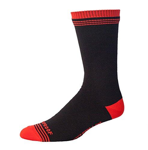 Duschen Pass Herren 's Crosspoint WP Crew wasserdichte Socken, Rot/Schwarz, 2X Große/Größe UK 11,5-14,4