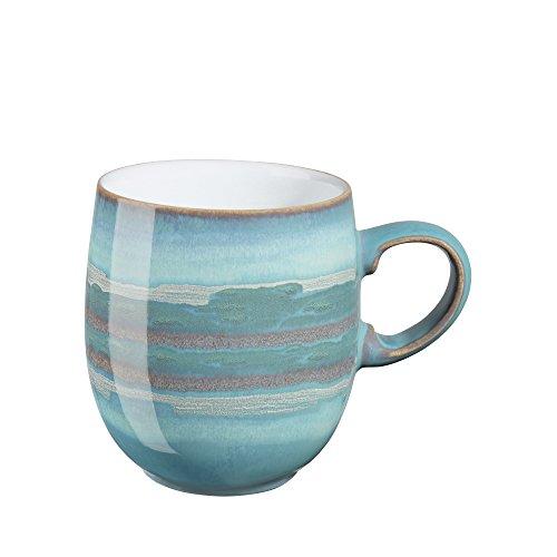 Denby Azure Coast Essteller Large Curve Mug Wave Rice Bowl