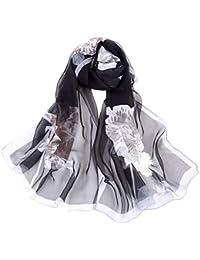 471d47f1a610 AIMEE7 Écharpe Femme Longue Boho Imprimé Pas cher Élégant Vintage Châle  Foulard ...