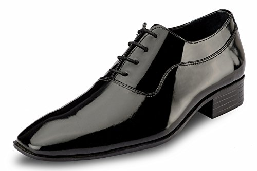 De Scalzo Black Leather Party Shoes For Men