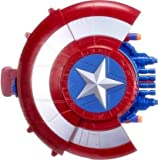 EUPHORIA Rk Toys Captain America Shield Shooting Blaster Dart Gun with 10 Soft Foam Darts - 2 in 1 Sheild Bullet Blaster Avengers Toys