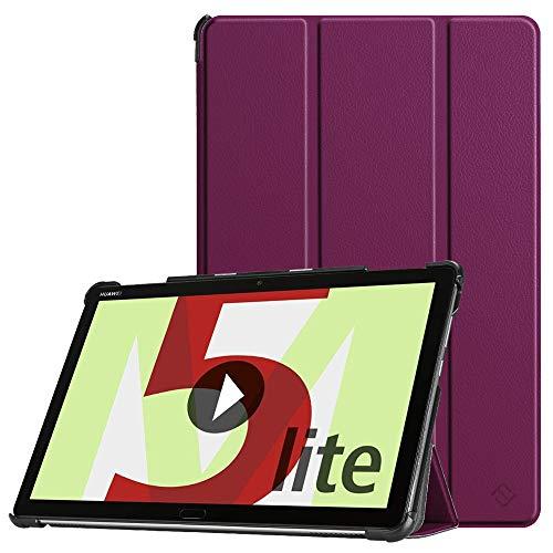Fintie Hülle Case für Huawei MediaPad M5 Lite 10 - Ultra Dünn Superleicht Flip Schutzhülle mit Auto Sleep/Wake Funktion für Huawei MediaPad M5 Lite 10 10.1 Zoll 2018 Tablet PC, Lila