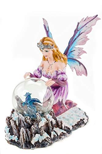 Joh.Vogler GmbH Zauberfee Summona beschwört Glaskugel mit Drachen LED Figur Elfe Fairy