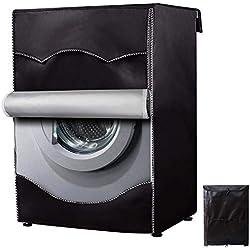 Mr.You Couverture de Machine à Laver Protection Anti-poussière Pour Face Avant de Machine à Laver et Sèche-linge 60x64x85CM(Noir)