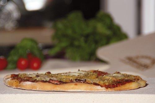 Pimotti Pizzastein – 5 cm Dicke mit Pizzaschaufel und Rezepten - 5