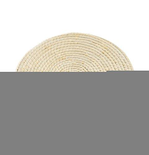 Insun Home fabriqué à la main thermique Tapis de yoga tissé Herbe Paille Coussin rond