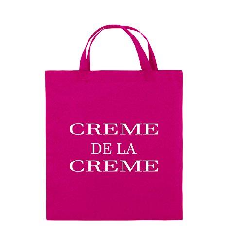 Buste Comedy - Creme De La Creme - Borsa In Juta - Manico Corto - 38x42cm - Colore: Nero / Argento Rosa / Bianco