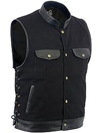 Leatherick - Gilet - Homme Noir Noir