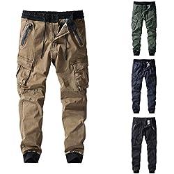 Cargo Sports De Combat Pantalons, Pantalons Cargo Docker Pants Sweatpants pour Jogging Cyclism Peintre Pantalons Occasionnels Pantalons Élastique Cheville
