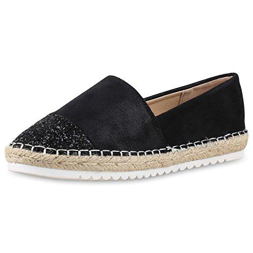 scarpe vita damen slippers espadrilles bast glitzer